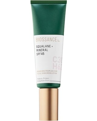 Non-Toxic Facial Sunscreen - Plant Based Biossance Squalane + Mineral SPF 45