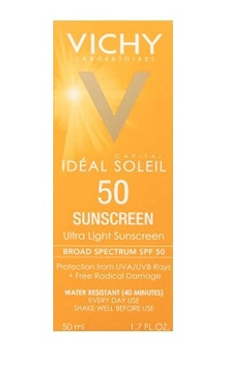 Best facial sunscreen: Vichy Ultra Light Fluid #usalovelisted #skincare