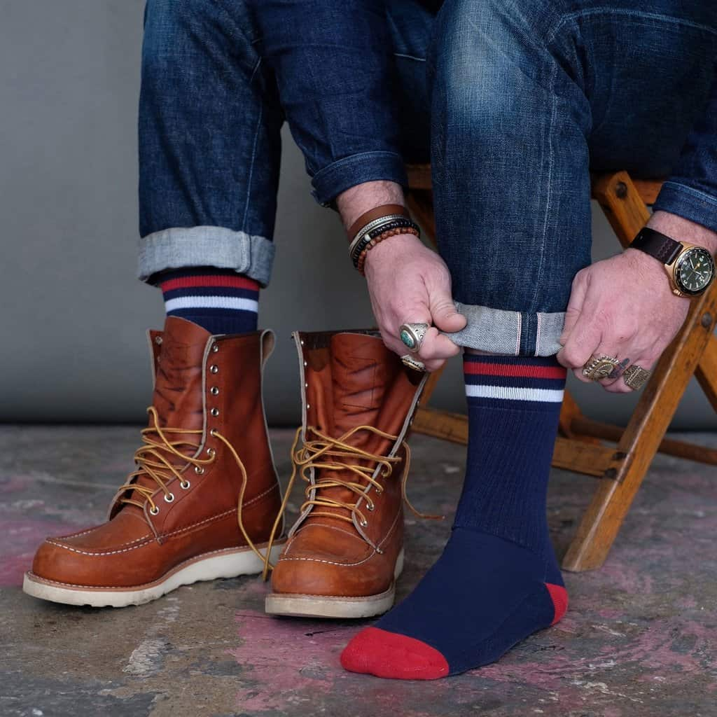 Made in USA Socks: American Trench luxury socks for men #usalovelisted