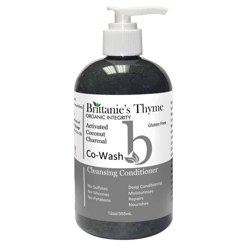 Brittanie's Thyme Activated Charcoal Co-wash - Gluten Free Shampoo - Made in the USA