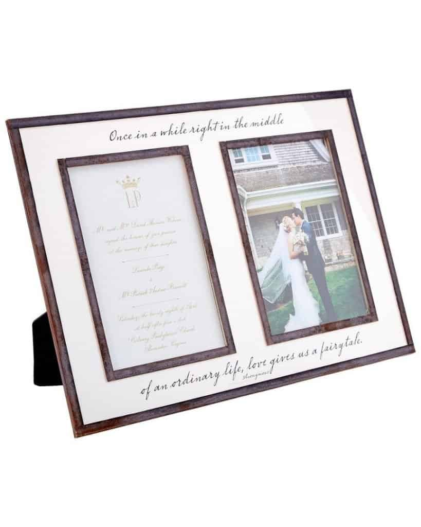 American Made Wedding Photo Frame from Ben's Garden - Best Wedding Gifts, Made in the USA