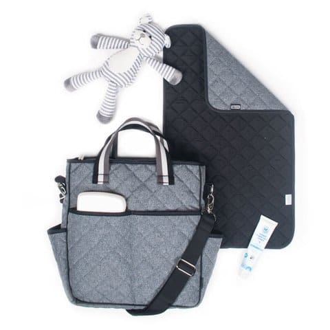 American Made Diaper Bag from Cinda b - Heather Gray and Black - Many more colors available!