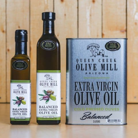 American Made Olive Oil from American Grown Olives - Queen Creek Olive Mill Balanced Extra Virgin Olive Oil - Made in Arizona