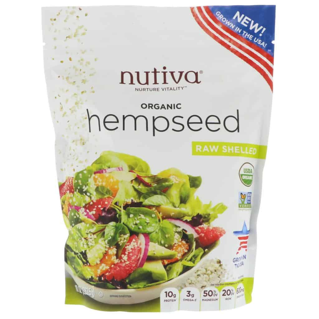 Nutiva Organic Hempseeds - Grown in the USA - 10g Plant Protein