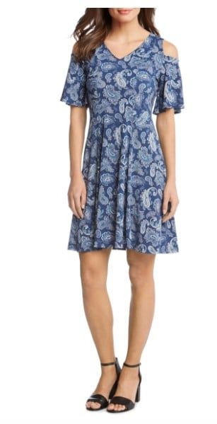 Preppy Style: Karen Kane paisley dress #usalovelsited