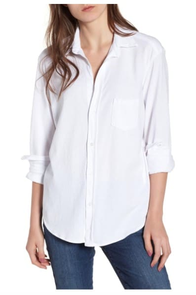 Preppy style: Frank & Eileen Tee Lab classic white button up by