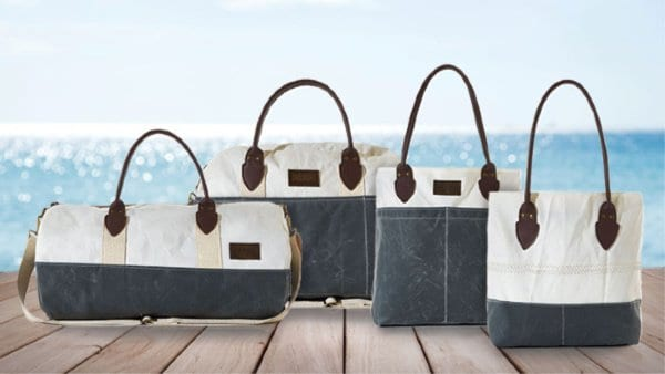 Made in USA Eco Friendly Gifts: SeaBags totes and weekenders made from repurposed sail cloth. #ecofriendly #madeinUSA #usalovelisted #SeaBags