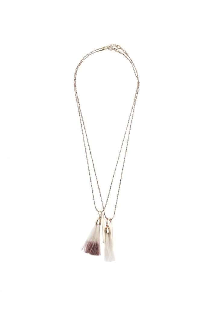 Affordable Luxury Gifts for women - Cartamebii Horizon Star Necklace with Horsetail Ombre Tassel, Dyed in Coffee #usalovelisted #gifts #luxury #madeinUSA