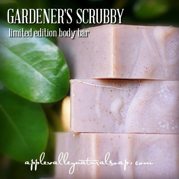 Apple Valley Natural Soap - American Made, Non-Toxic Gardener's Scrubby Citrus Basil Body Soap - 15% off with code USALOVE