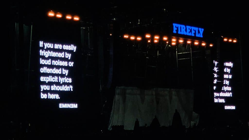 Eminem at Firefly 2018 - #ToyotaGiving - Toyota is donating, supporting and supplying the means necessary for scholastic musical programs