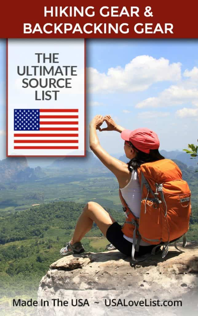 Made in USA hiking gear, backpacking gear #hiking #backpacking #outdoorgear