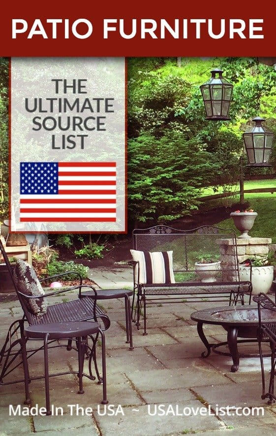 Made in USA Patio Furniture #usalovelisted #patiofurniture