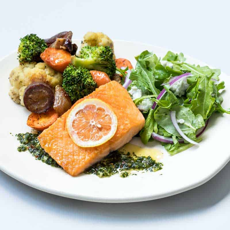 Modern Market - Fast Food is Good Food - Salmon Hard-Carved Plate