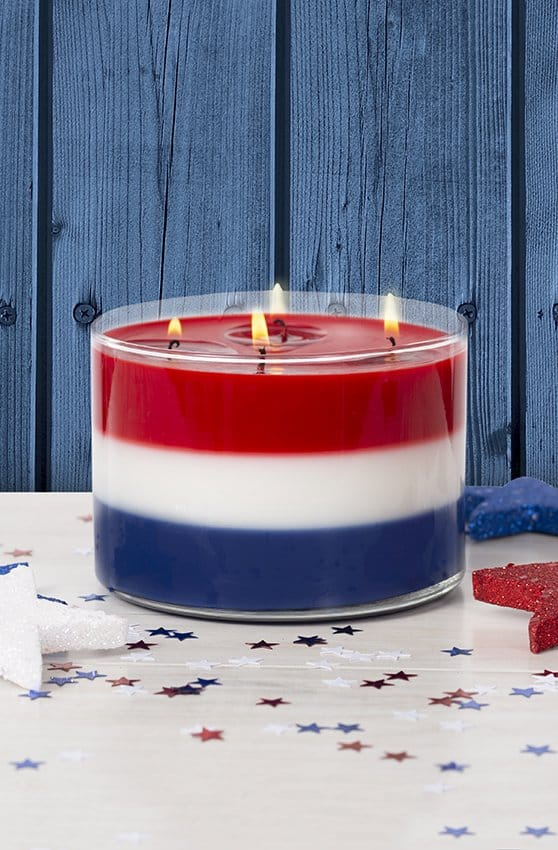Oreck Candle Co. Scented Patriotic Candle Giveaway #usalovelisted