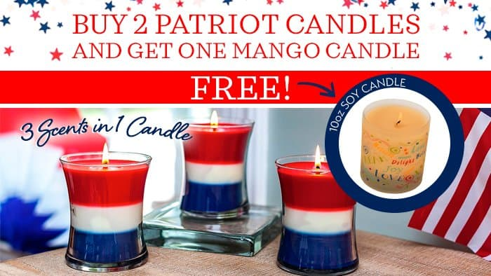 David Oreck Candle Co. Patriotic Scented Candles