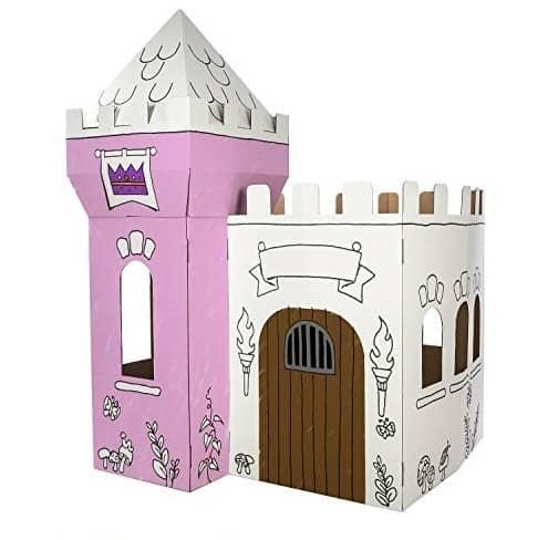Princess Gift Ideas: cardboard princess castle #princess #madeinUSA #usalovelisted