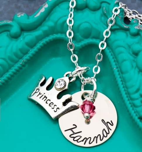 Princess Gifts: Handmade princess jewelry from Distinctly Ive #princess #jewelry #madeinUSA #usalovelisted