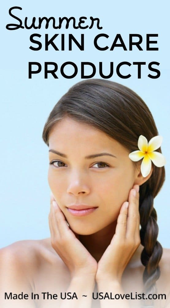 Summer skin care products: Made in the USA