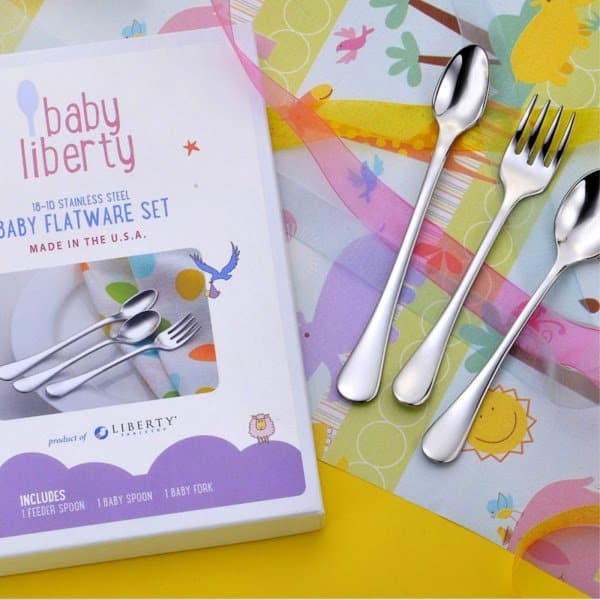 Gifts for Under $30: Liberty Tabletop Baby Liberty silverware #madeinUSA #usalovelisted #babygifts