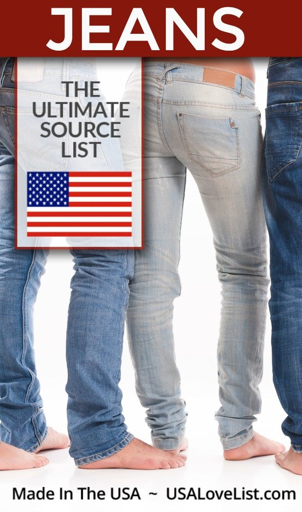 American made jeans for women and men #usalovelisted #madeinUSA #fashion #denim