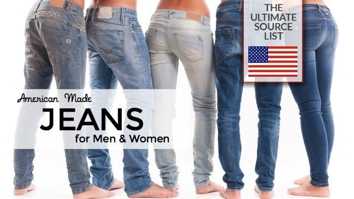 American made jeans for men and women