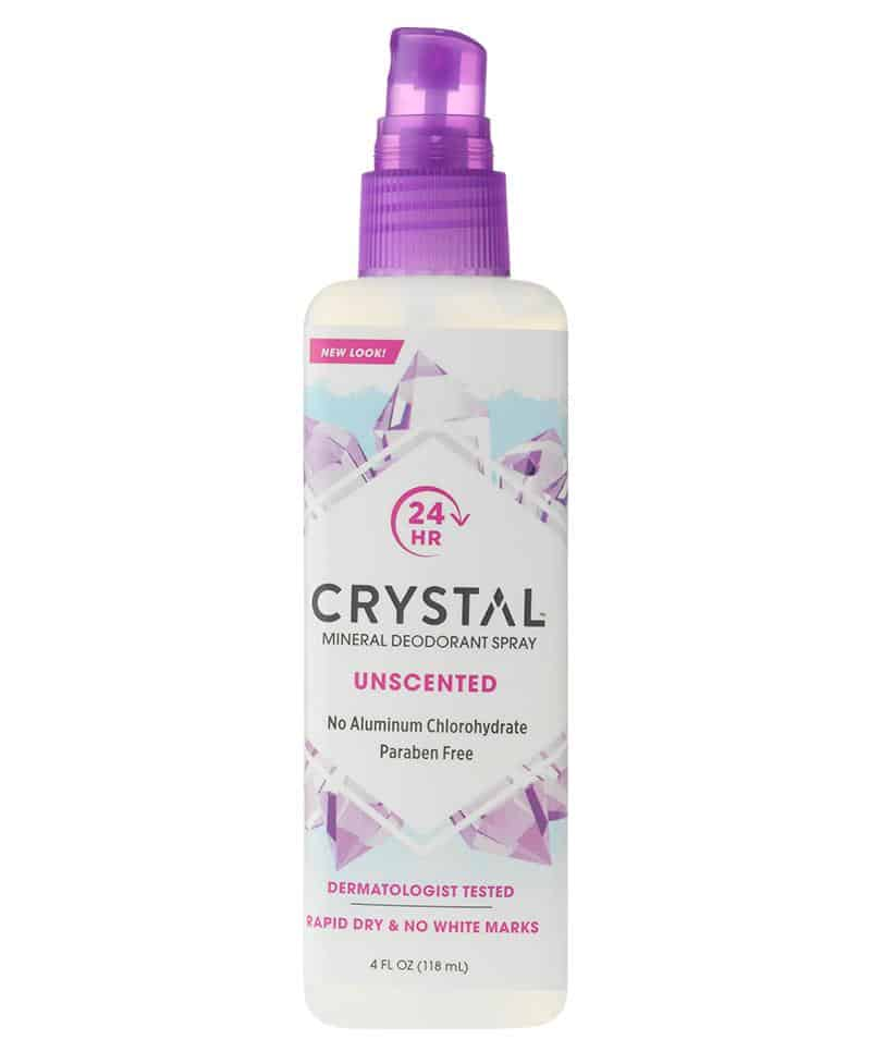 Best Natural Deodoran: Aluminum Free and Propylene-Glycol Free Spray Deodorant from Crystal #usalovelisted #madeinUSA #naturalskincare