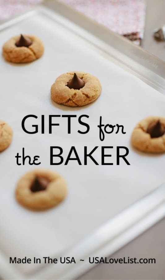 Made in USA Gifts for the Baker via USA Love List #baking #usalovelisted #gifts #weddingregistry