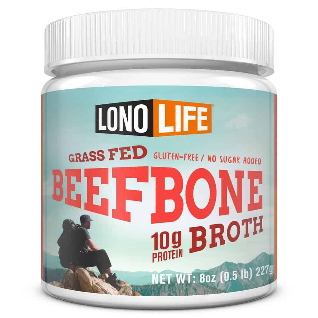 LonoLife Grass-Fed Beef Bone Broth with 10g Protein - 15% off with code USALOVE #whole30compliant #whole30broth #whole30bonebroth #glutenfreebroth