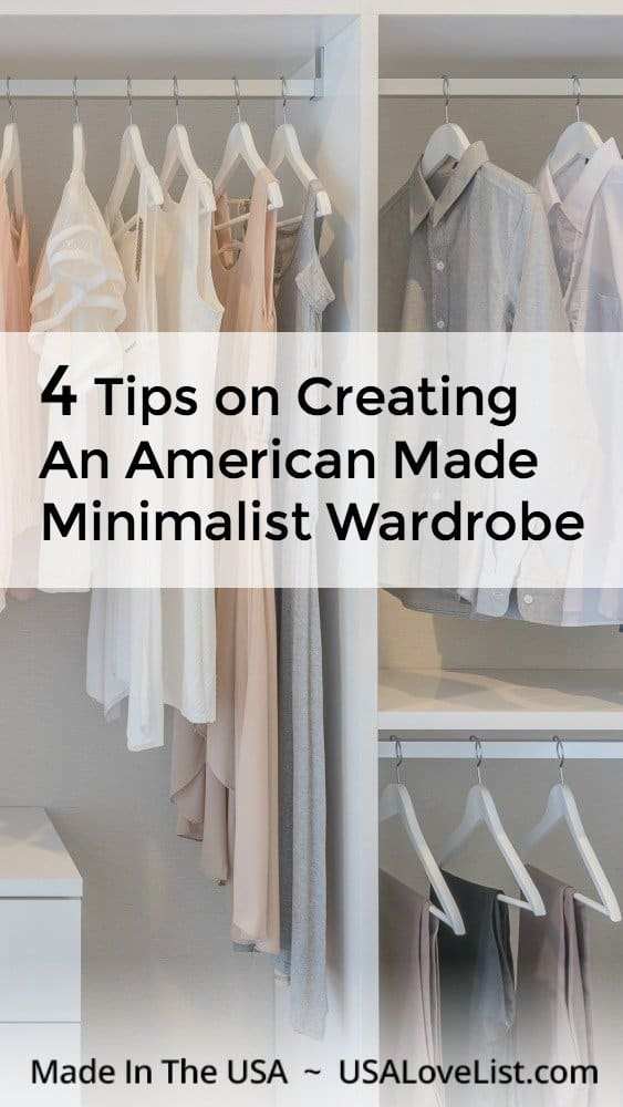 Tips on creating an American made minimalist wardrobe via USA Love List #usalovelisted