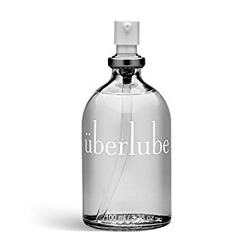 Uberlube Premium Lubricant. Made from silicone and vitamin E, and not petrochemical by-products. Made in the USA, vegan, and gluten free.