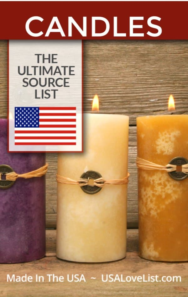 American Made Candles via USA Love List #usalovelisted #candles #madeinUSA #gifts #giftideas