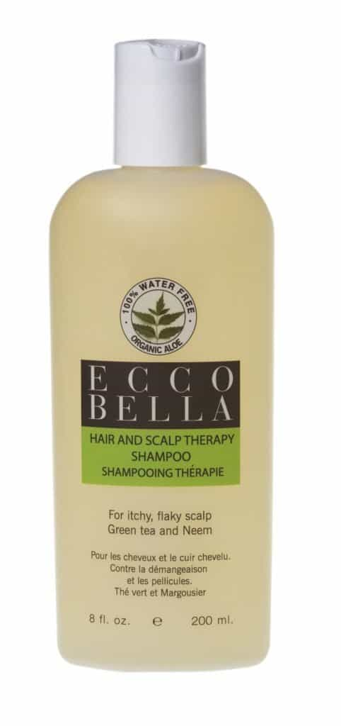 Ecco Bella Natural & Organic Hair & Scalp Therapy Shampoo - Made in USA Non-Toxic Shampoo