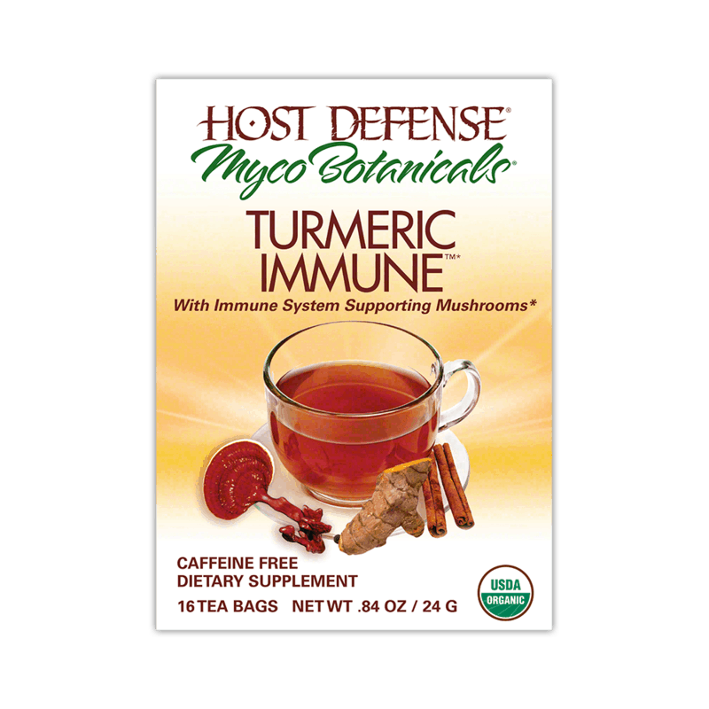 Medicinal Mushroom Products: Host Defense Myco Botanicals Tumeric Immune Tea - Medicinal Mushroom Tea - Immune System Supporting Mushrooms #usalovelisted #medicinal #mushrooms