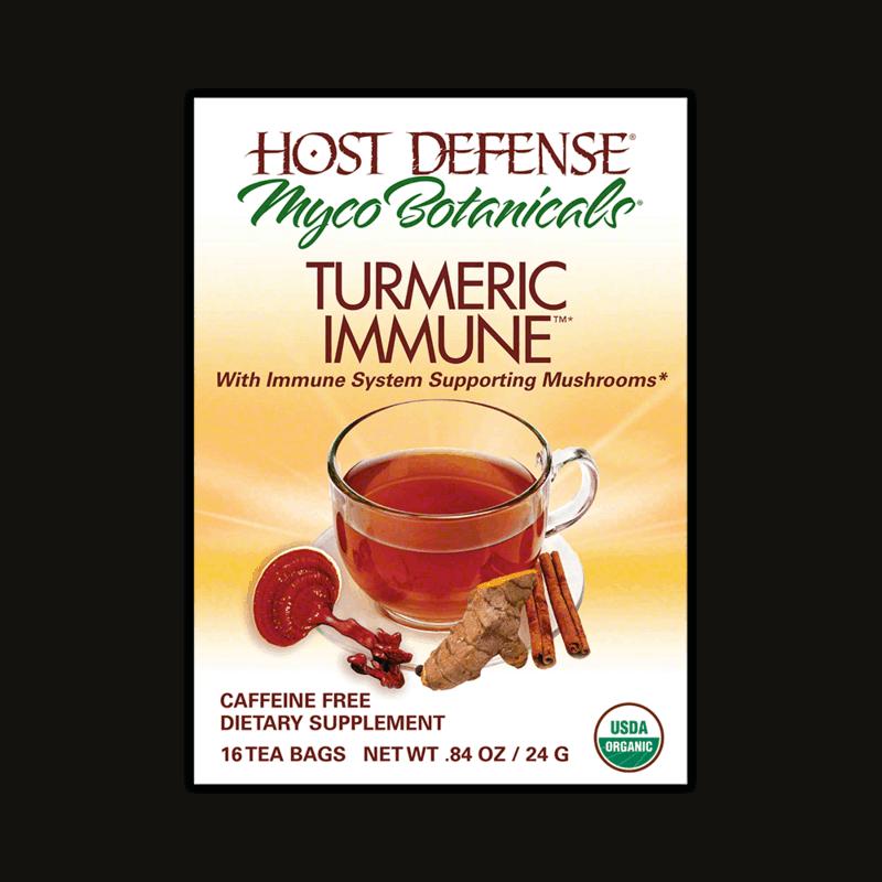 Medicinal Mushroom Products: Host Defense Myco Botanicals Tumeric Immune Tea - Medicinal Mushroom Tea - Immune System Supporting Mushrooms #usalovelisted #medicinal #mushrooms