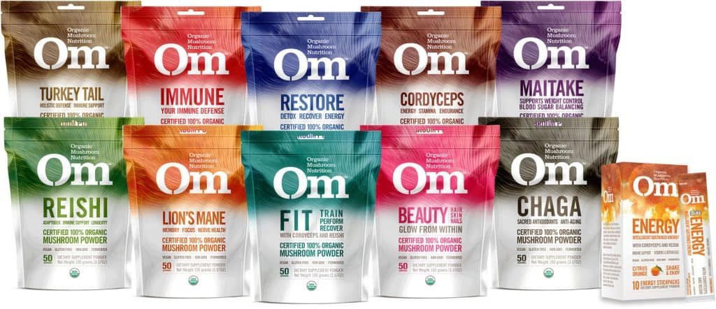 Medicinal Mushroom Products: Om Mushroom Nutrition - Mushroom Coffee and Energy Supplements Harvested in USA #usalovelisted #medicinal #mushrooms