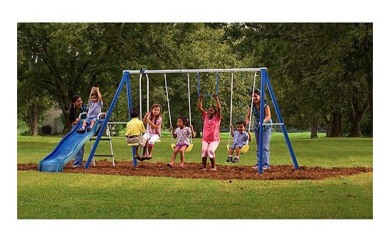 Made in USA outdoor toys and games: Flexible Flyer swing sets