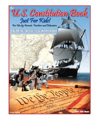 Constitution Day, September 17: US Constitution Book for kids #ConstitutionDay #usalovelisted #madeinUSA
