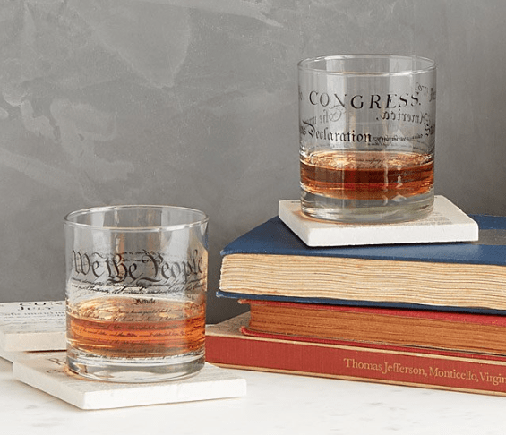 Constitution Day, September 17: Constitution and Declaration glasses #usalovelisted #madeinUSA #USConstitution #ConstitutionDay