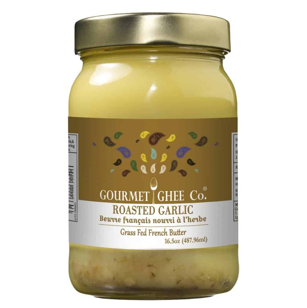 The Gourmet Ghee Co. Roasted Garlic Ghee - Great for Whole30 Recipes