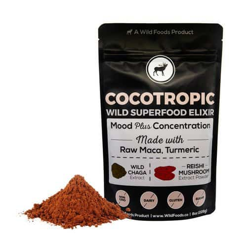 Medicinal Mushroom Products: Wild Foods Mushroom Coffee, Tea and Cocoa Elixier - Wild Cocotropic, Chocolate Nootropic Drink For Mental Performance #usalvoelisted #medicinal #mushrooms