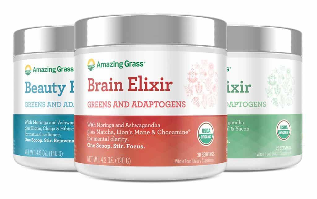 Medicinal Mushroom Products: Amazing Grass - Vegan Beauty Elixir with Medicinal Mushroom Powder #vegan #medicinal #mushrooms