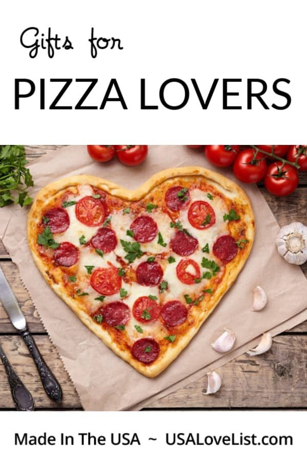 Gifts for Pizza Lovers, all made in the USA via USAlovelist.com #usalovelisted