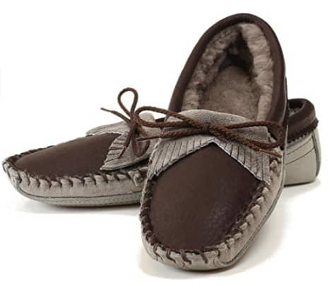 Made in USA Slippers & Moccasins: Itasca brand moccasin slippers for women and Men #usalovelisted #madeinUSA #slippers