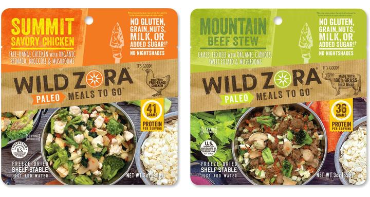 Wild Zora Whole30 Compliant, Freeze-Dried Meal. Perfect for an Emergency Snacks or On-The-Go Meal. 25% off with code USALOVE.