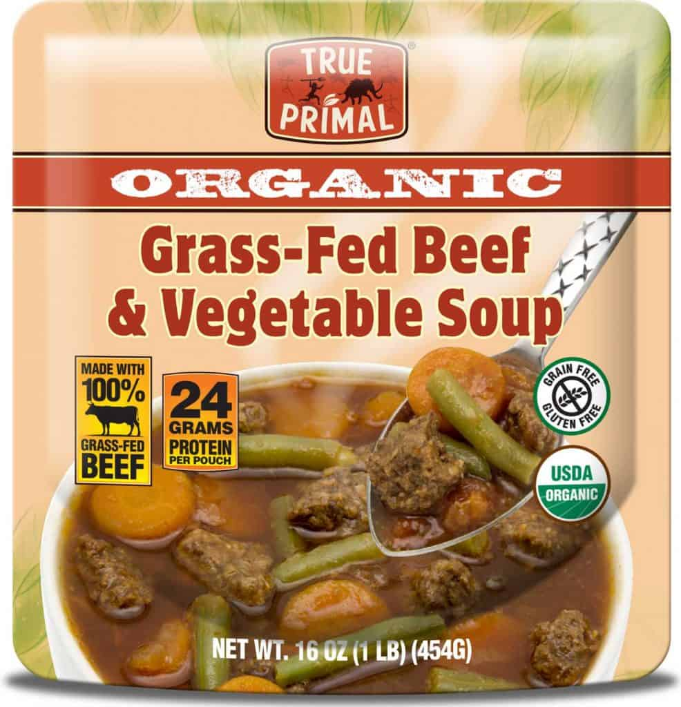 Organic Whole30 Compliant Soup - True Primal Organic Grass-Fed Beef & Vegetable Soup - Available on Amazon