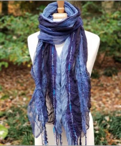 AnytownUSA Made in USA Gifts: Fashion scarves made in Vermont #fashion #scarf #usalovelisted #anytownUSA