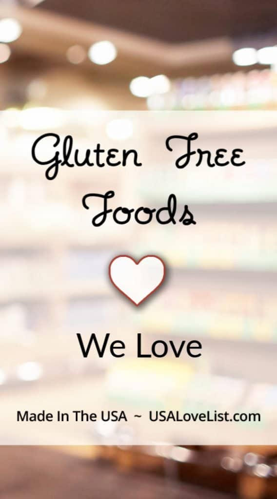Gluten Free Foods: Gluten free breads, snacks, meals and more all American made #glutenfree
