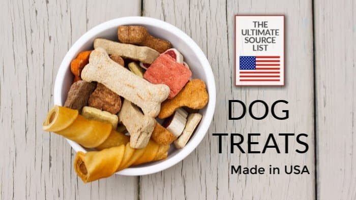 Made in USA Dog Supplies: Dog Treats made in USA via USA Love List #dogsupplies #pets #usalovelisted