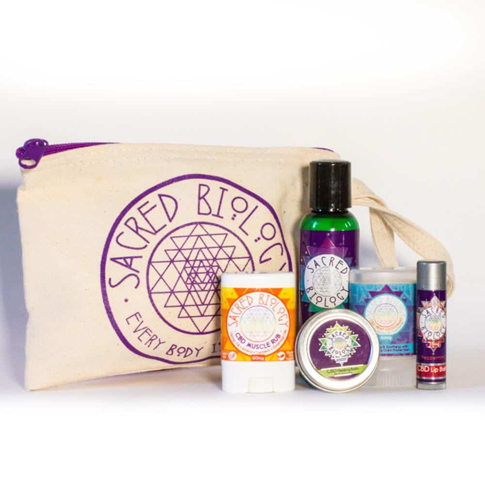 Sacred Biology-CBD Beauty Products - Skincare Kit - CBD Lotion, CBD Healing Balm, CBD Deodorant, CBD Muscle Rub, CBD Lip Balm