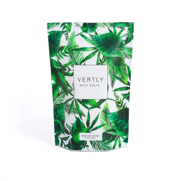 VERTLY CBD Infused Bath Salts - American Made CBD Beauty Products